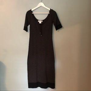 Sonia Rykiel Striped Knit Jersey Midi Dress EUC